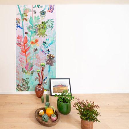 Décoration murale avec plantes