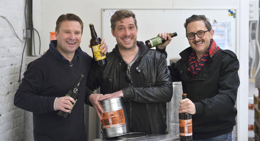 Jérôme, Matthieu et Mathias, collectif de micro-brasseurs Brewbaix